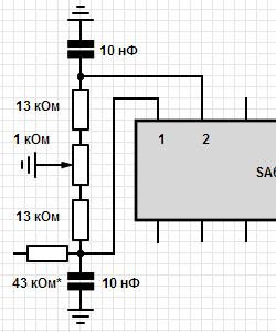 Цепь балансировки SSB модулятора.