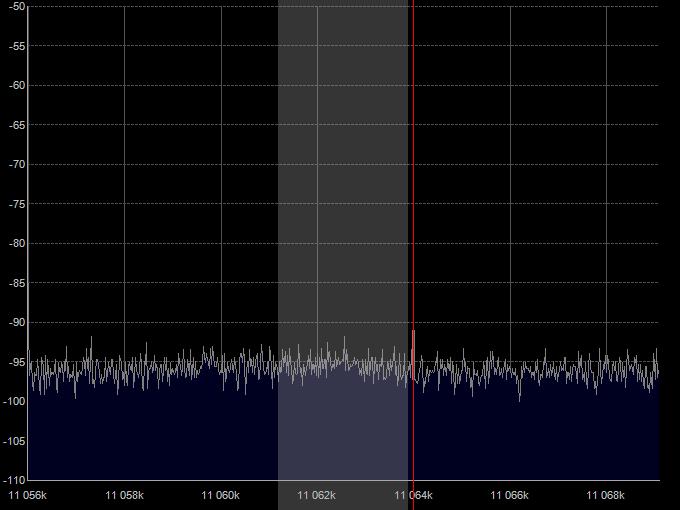 Третья гармоника LSB сигнала, частота 11.064 МГц.
