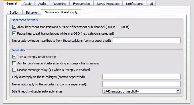 Настройка автоответа и рабочего диапазона частот программы JS8Call.